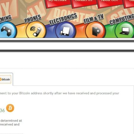 Second hand store CeX to payout in bitcoin