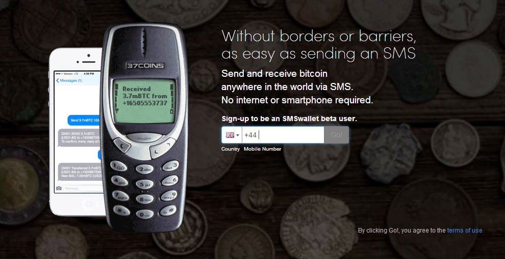 37Coins brings SMS bitcoin to the unbanked