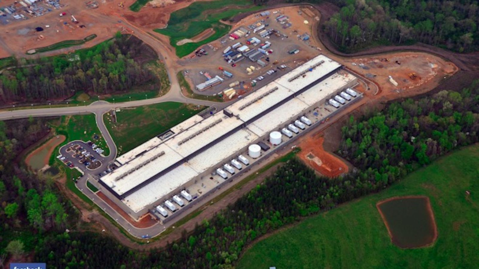 A Facebook data center based in Forest City, NC