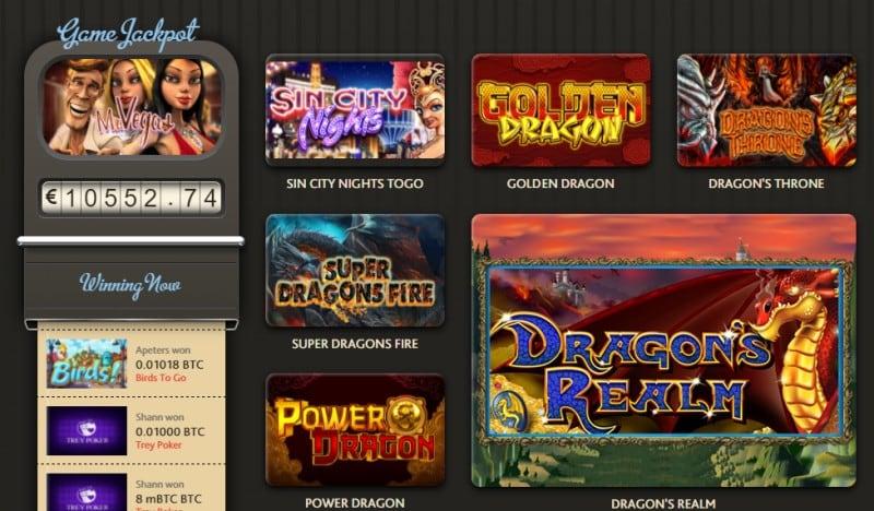 Play great Bitcoin casino games at 7BitCasino