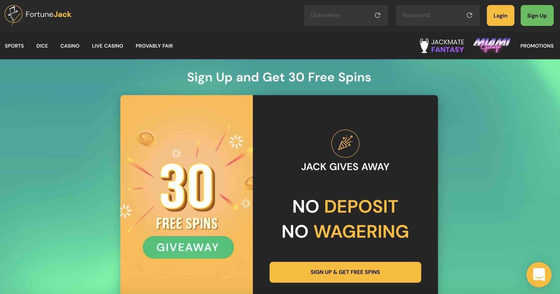Bonuses at FortuneJack Casino