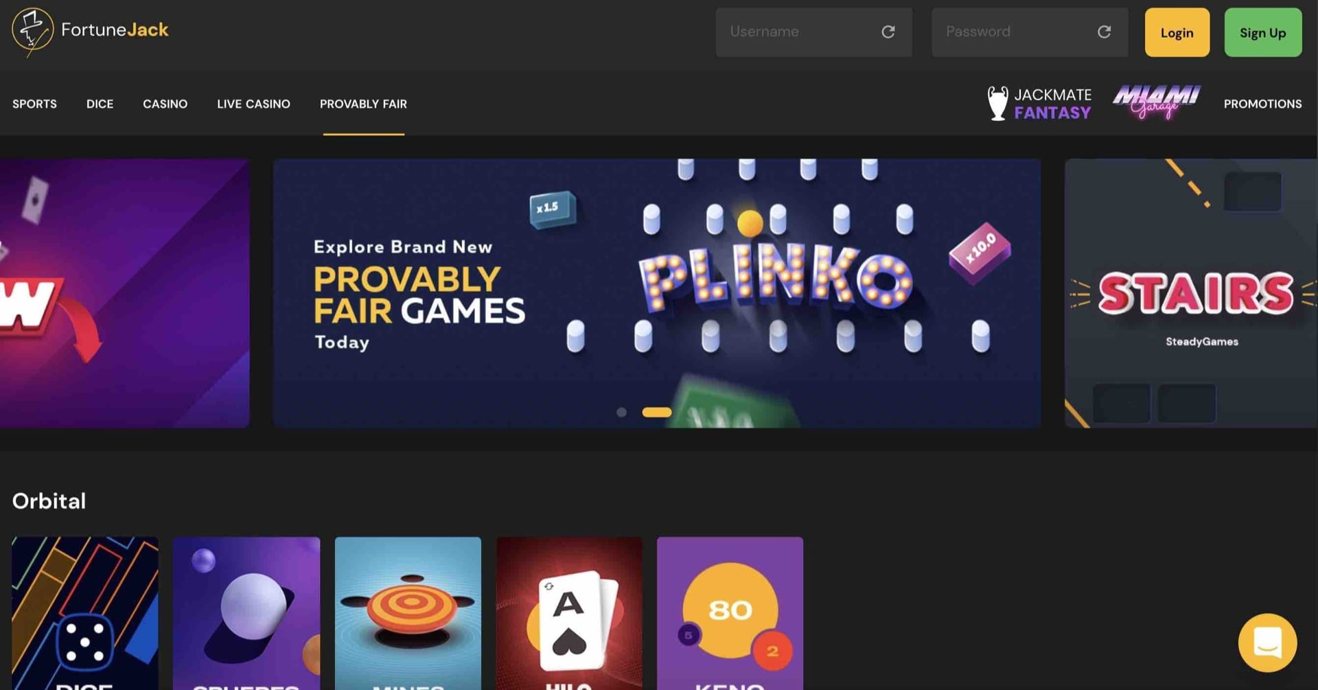 Great Games at FortuneJack Casino