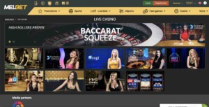 Live Casino Games at MELbet