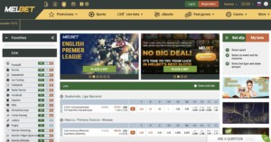 Place Sports Bets at MELbet