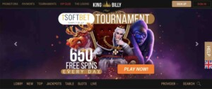 Tournaments at King Billy Casino