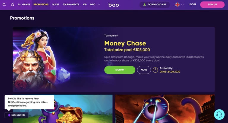 BaoCasino Review for Bitcoin Players