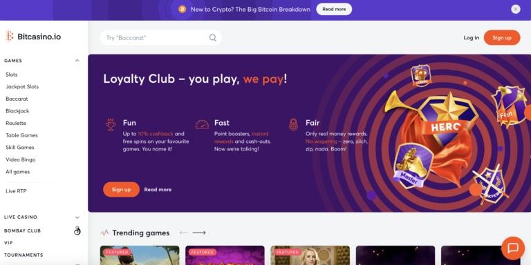 BitCasino Main Page