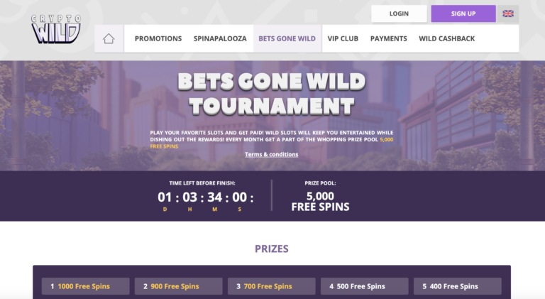 CryptoWild Online Casino Review