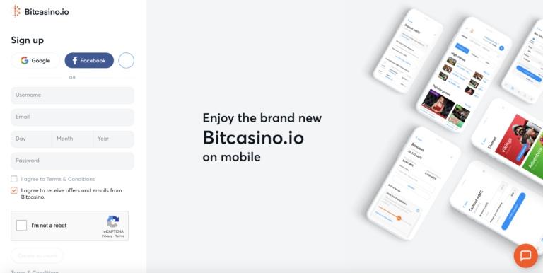 Play BitCasino on Mobile