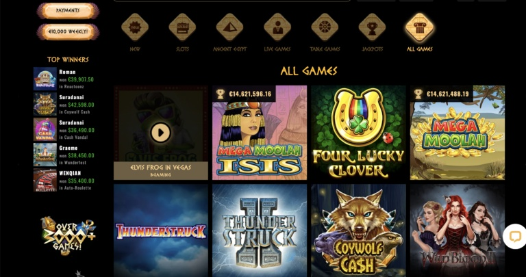 Play Slots and More at Cleopatra Casino