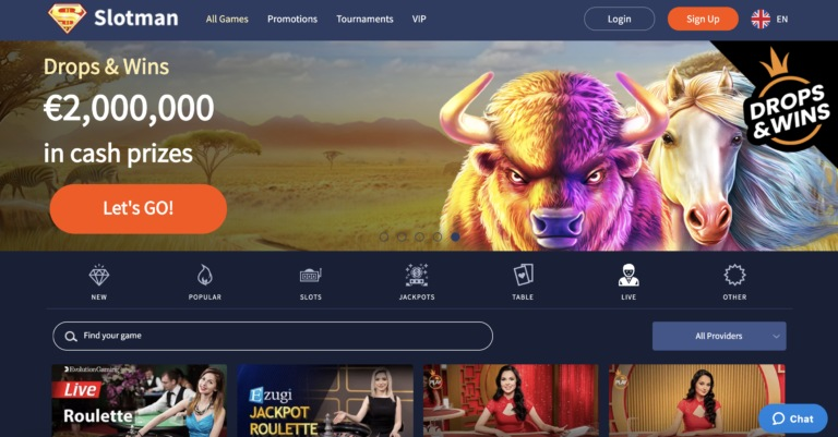 Slotman Casino Live Casino Games