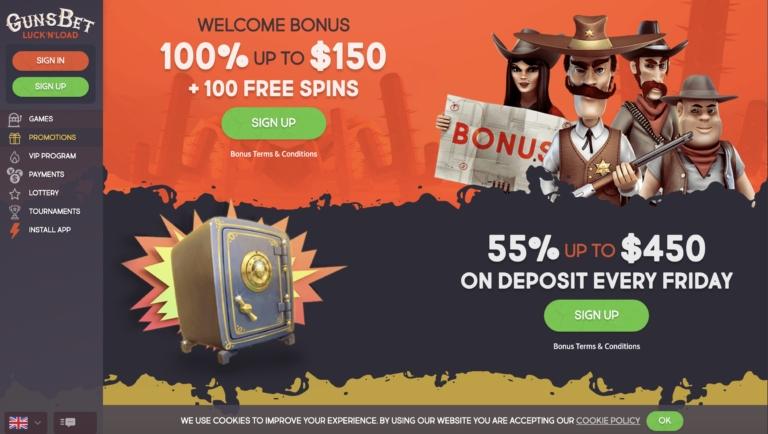 Take Your Pick of Promos and Bonuses at GunsBet Casino