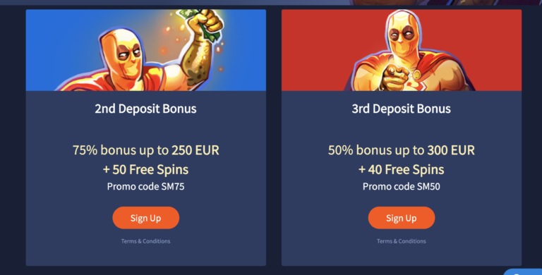 Top Bonuses at Slotman Casino