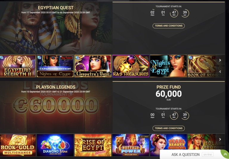 1xSlot Casino Tournaments