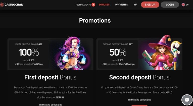 CasinoChan Promotions and Bonuses