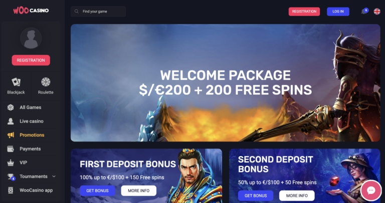 Collect a New Player Welcome Bonus at WooCasino