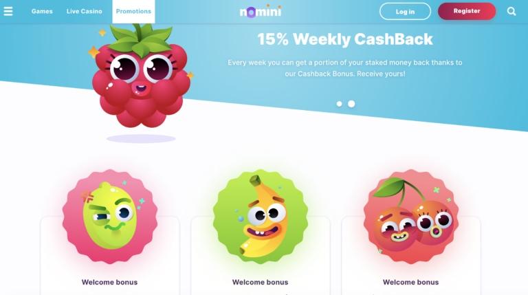 Collect a Welcome Bonus at Nomini Casino