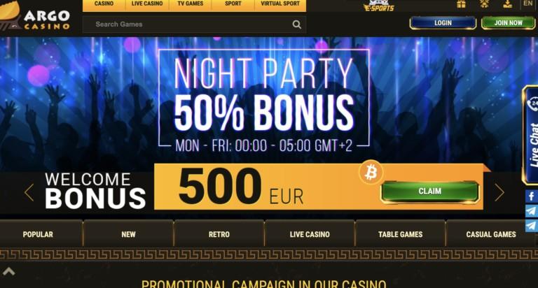 Get Bonus Credits at Argo Casino
