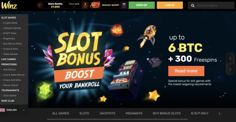 Get a Welcome Bonus at Winz Casino