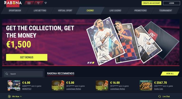 Join Rabona for Real Money Gambling