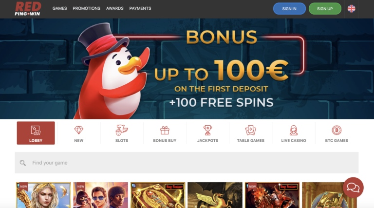 Play Top Casino Games at Red Ping Win Casino