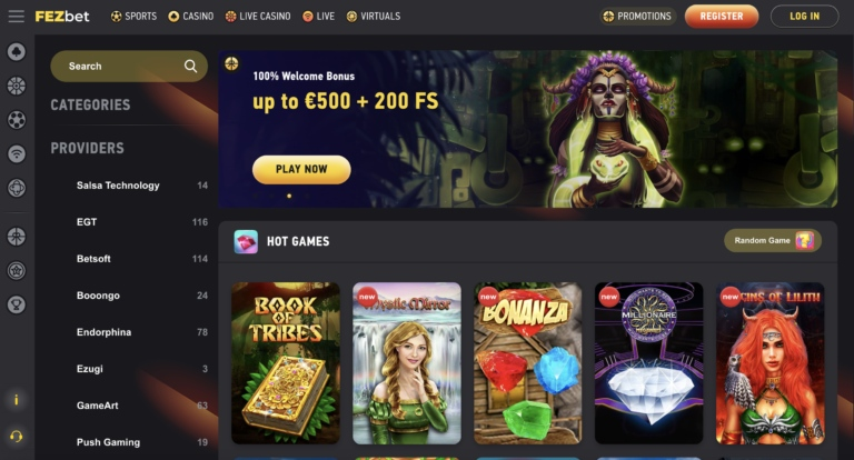 Play Top Games at Fezbet
