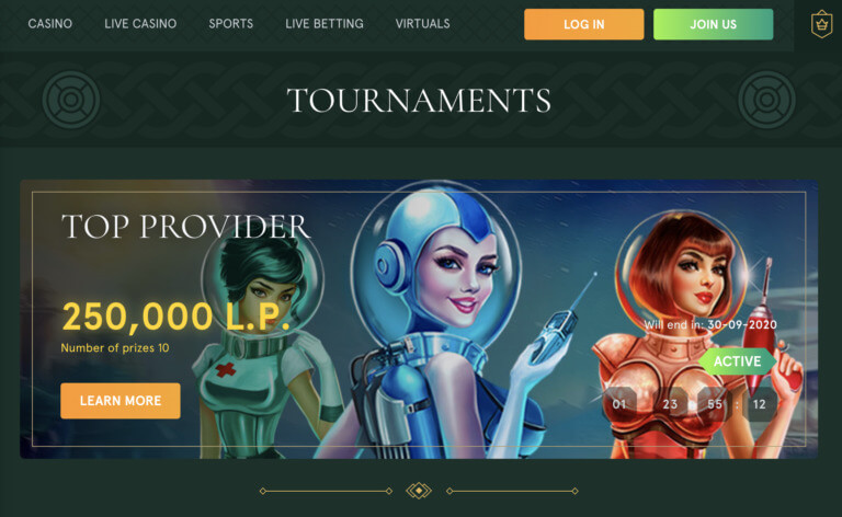 Slot Tournaments at Casinia Casino