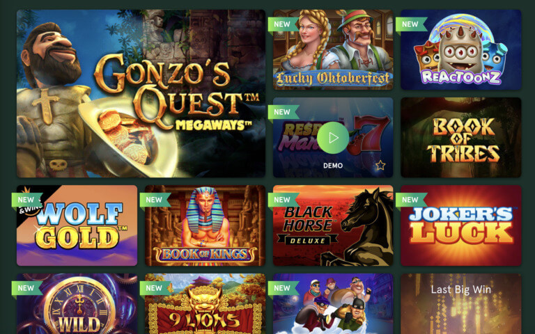 Top Games at Casinia Casino