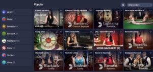 BetMaster Live Casino Games