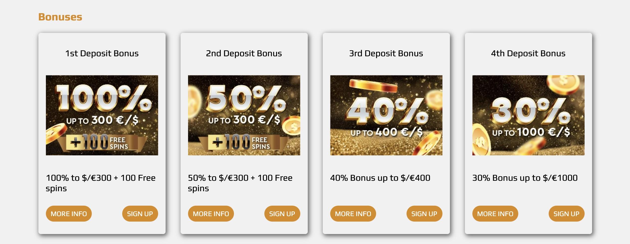 Bonuses at Zev Casino