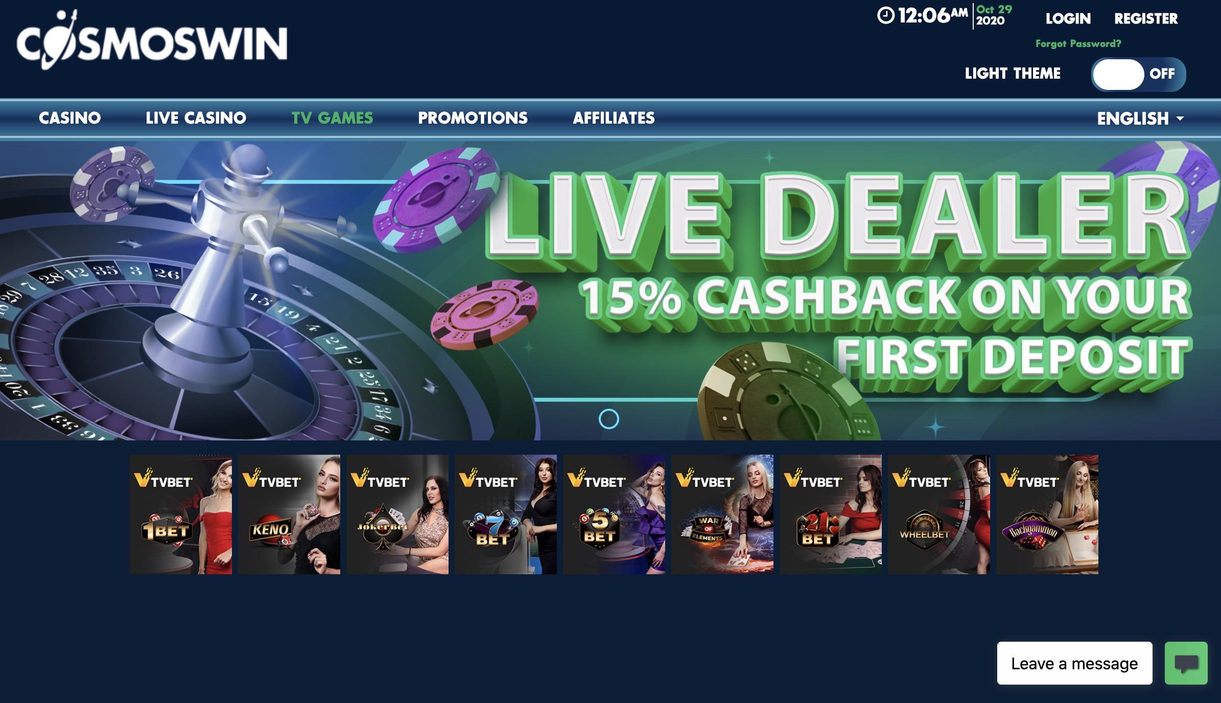 CosmosWins Casino Bonuses