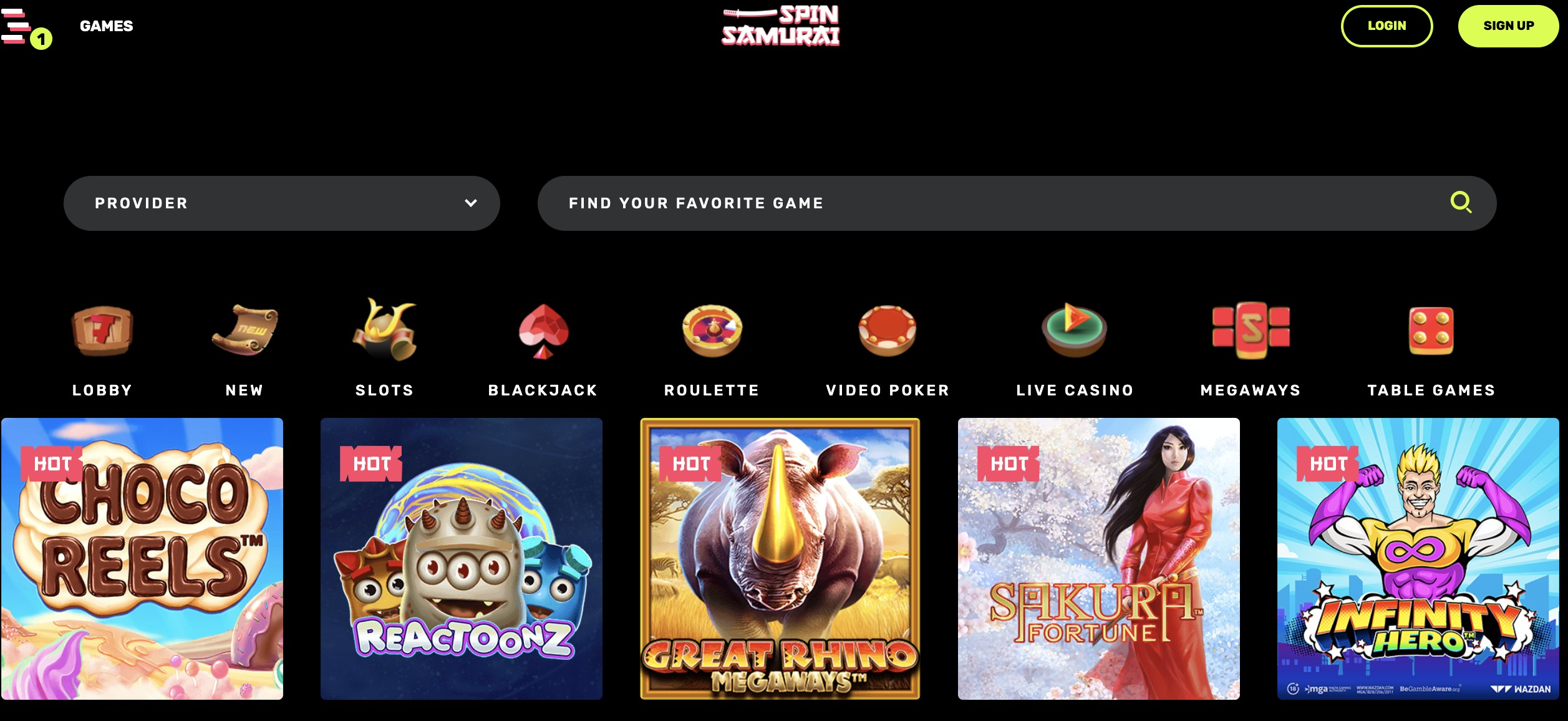 Join Spin Samurai for Top Bonuses and Games