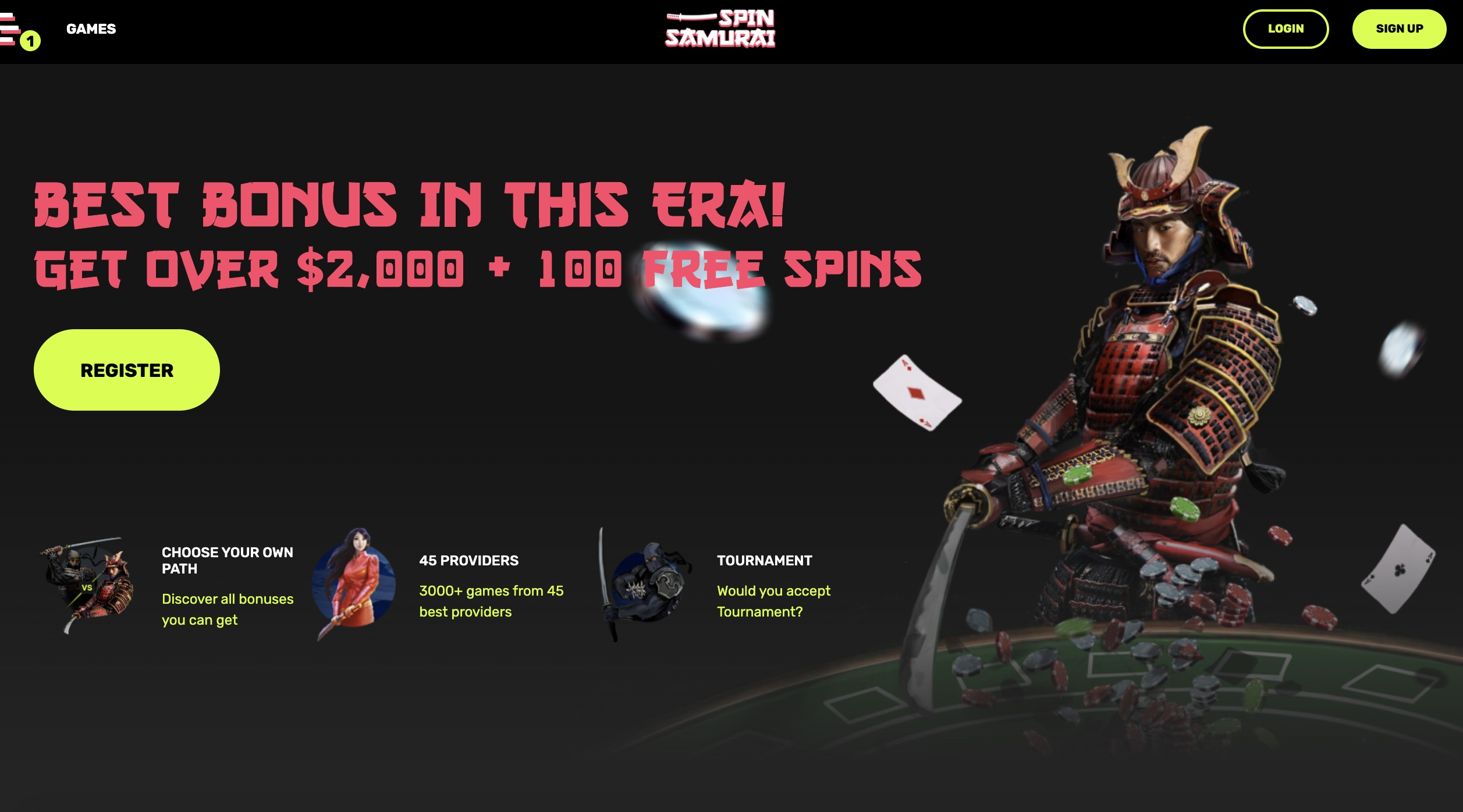 More Info and Promo Codes in our Spin Samurai Review