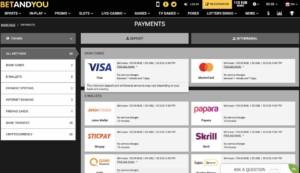 Payment Options at BetandYou Casino