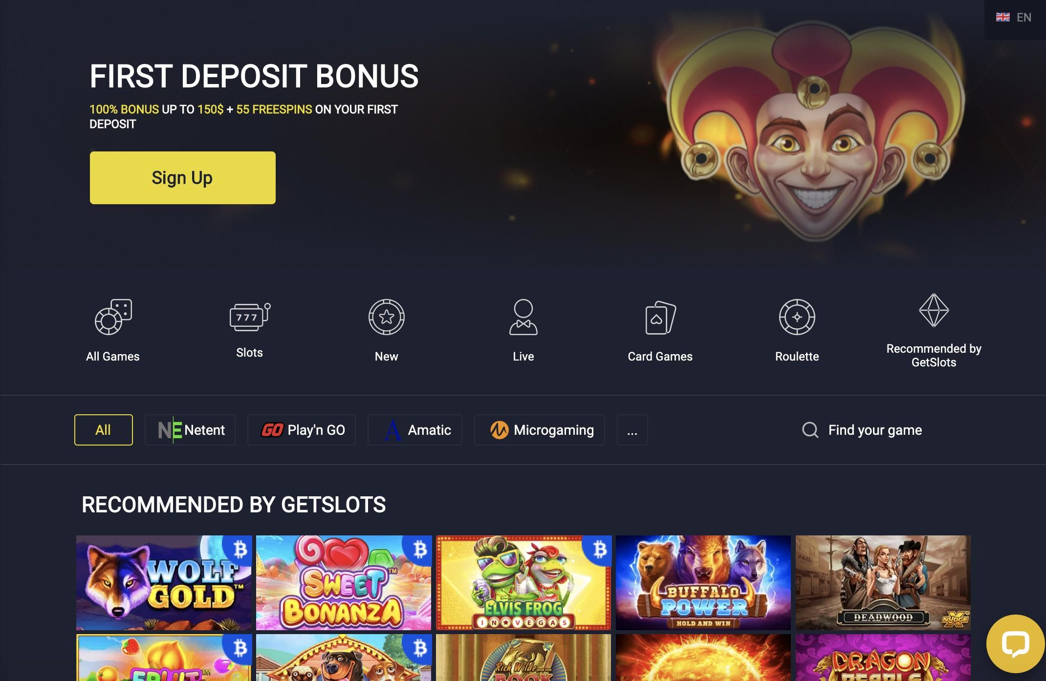 Promo Codes and Games at GetSlots