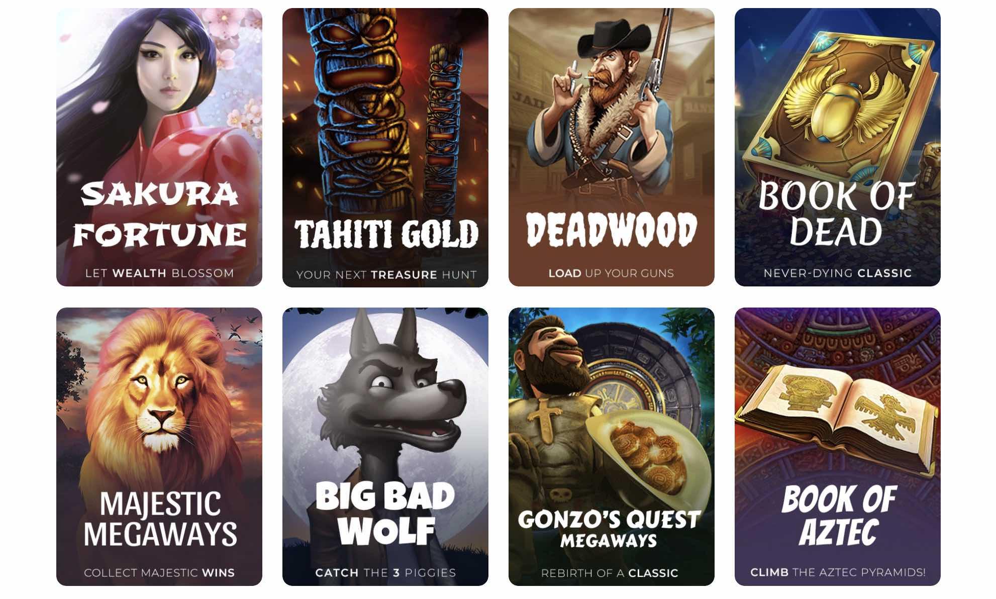 Top Games at Tsars Casino