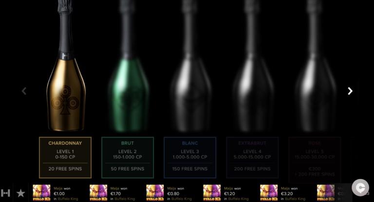 VIP Scheme at Champagne Spins