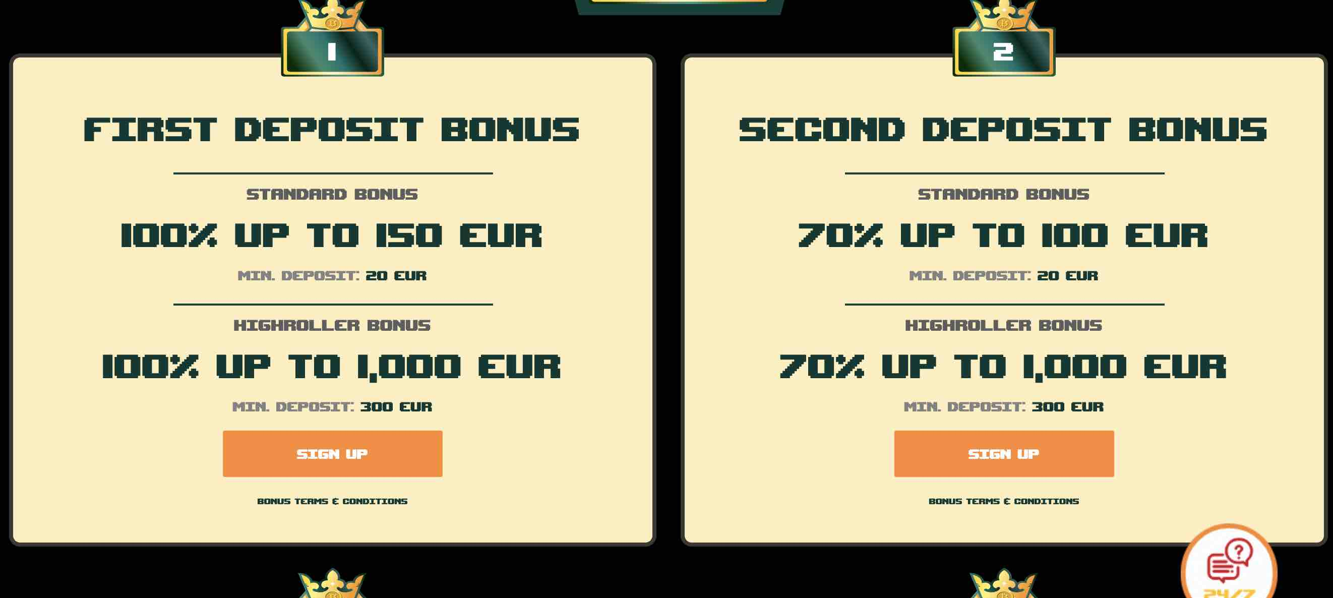 BitKingz Casino Bonuses