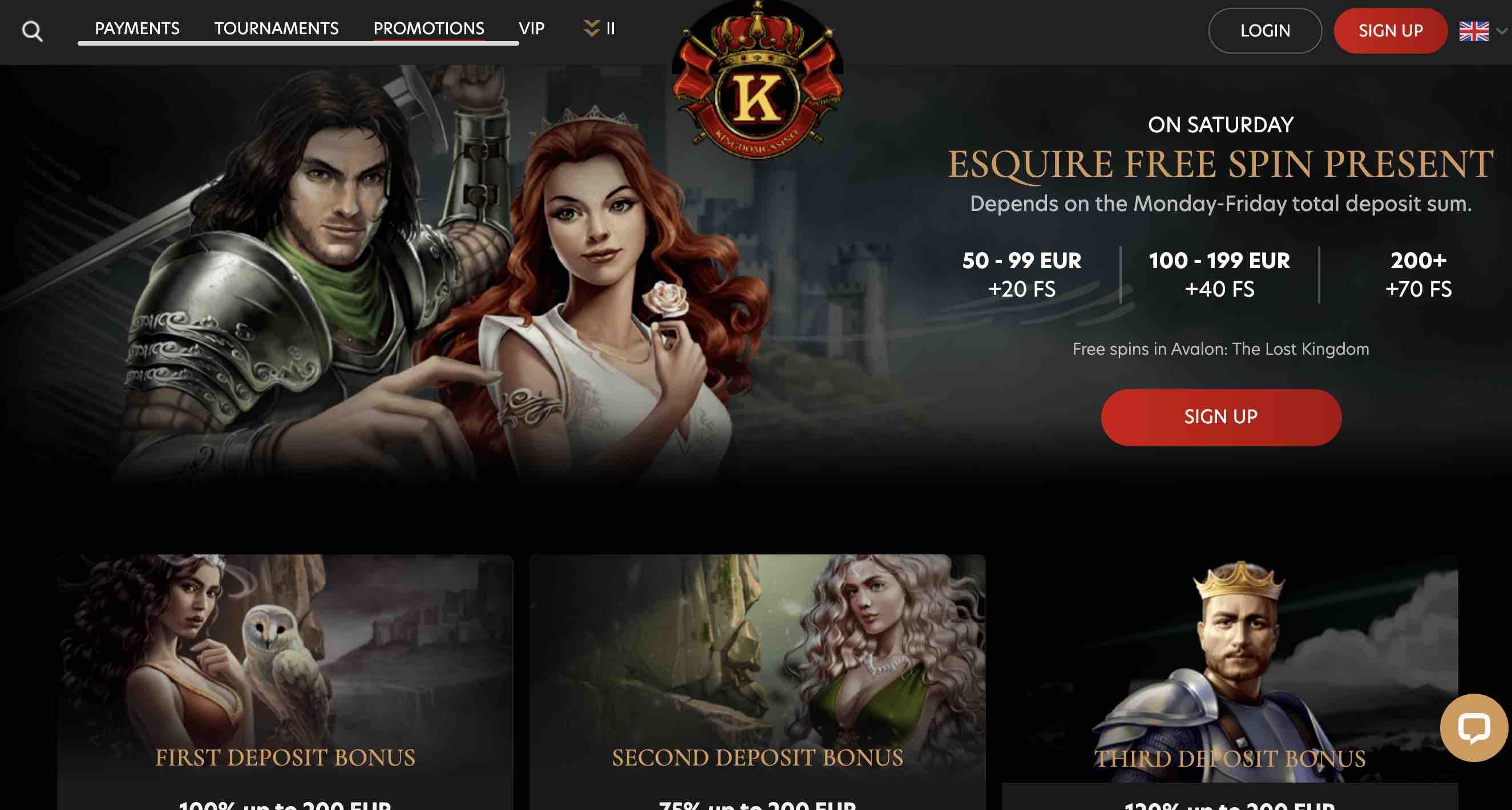 Bonuses at Kingdom Casino