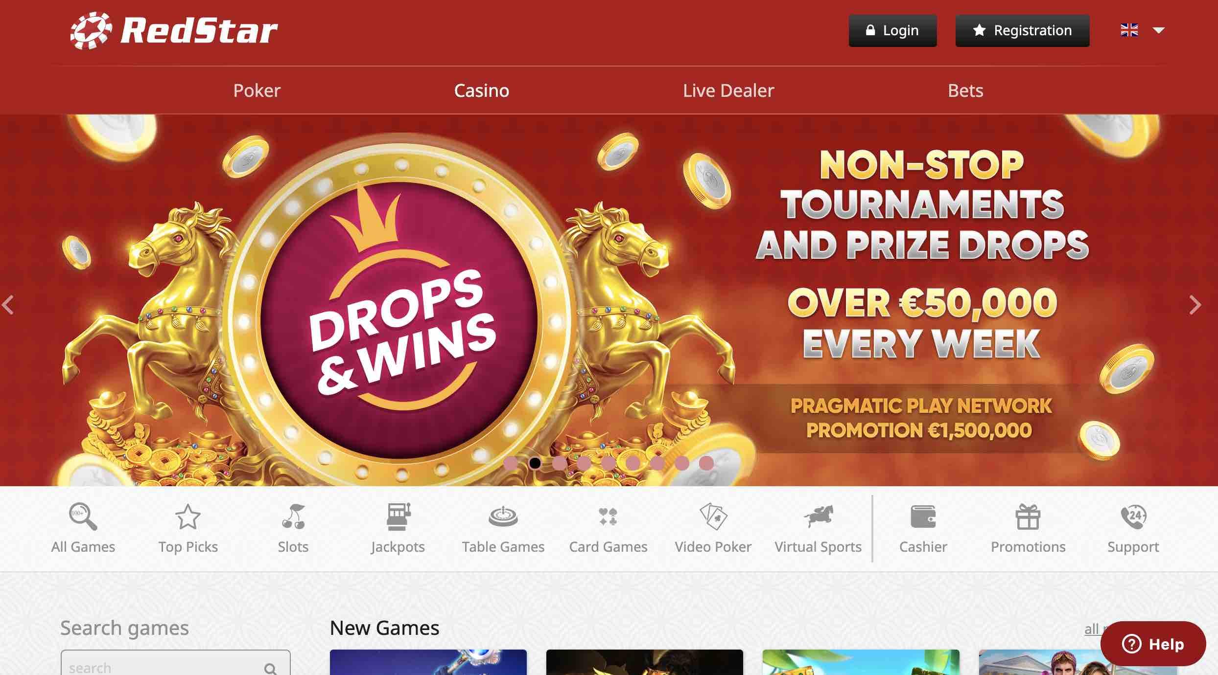 Bonuses at RedStar Casino