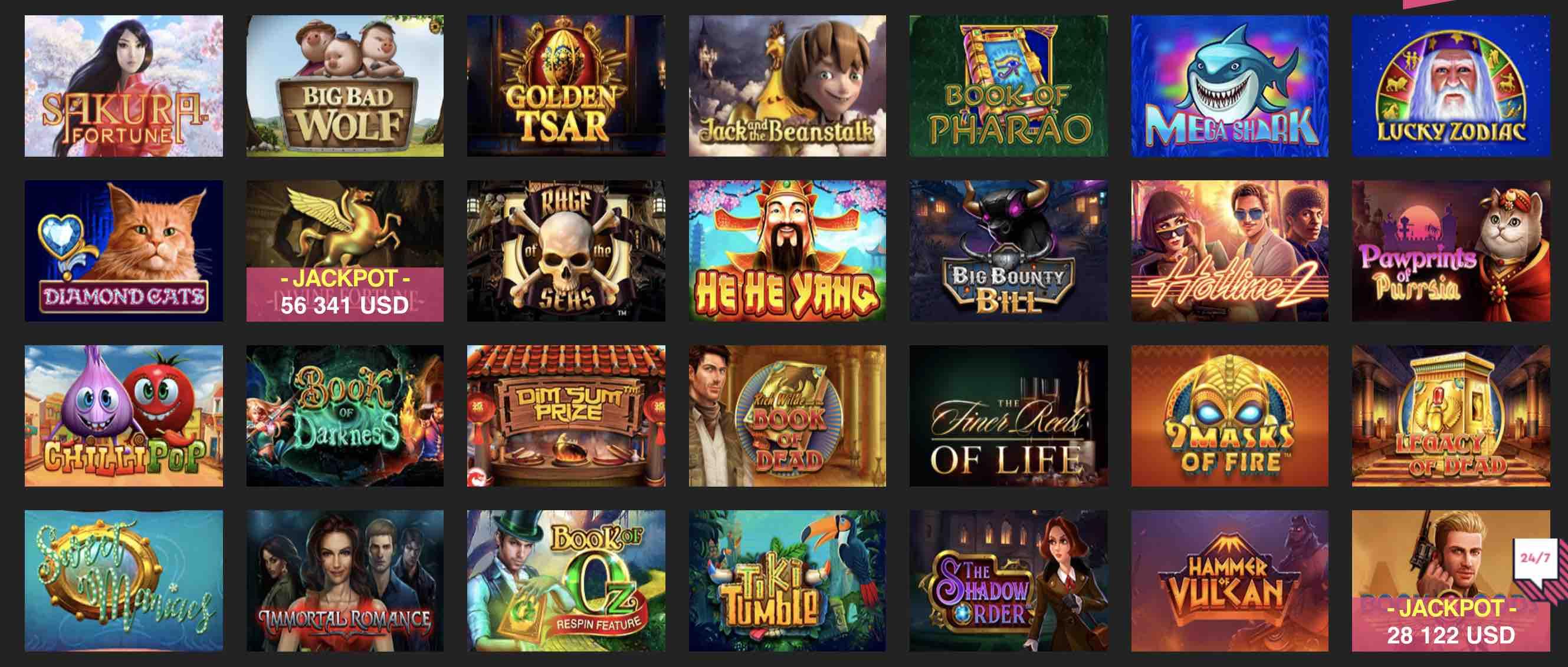 Booi Casino Games