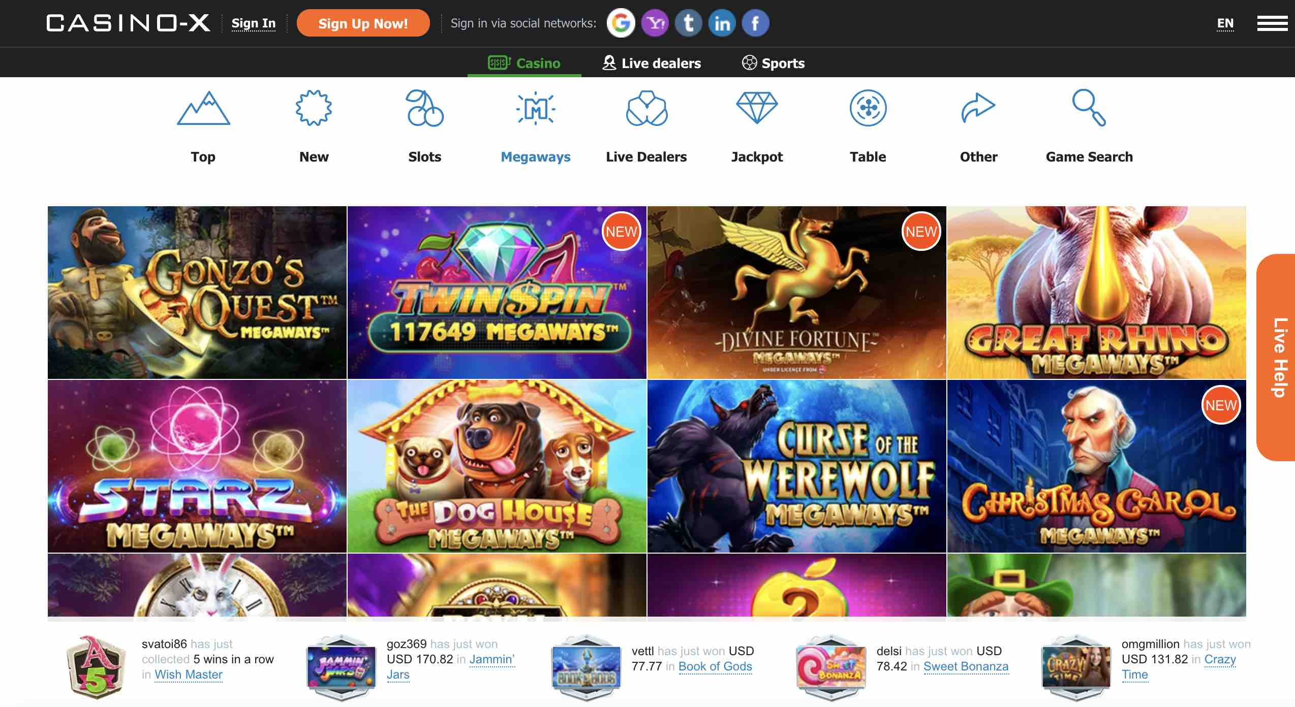 Casino X Review   Get up to $20.20 as a New Member