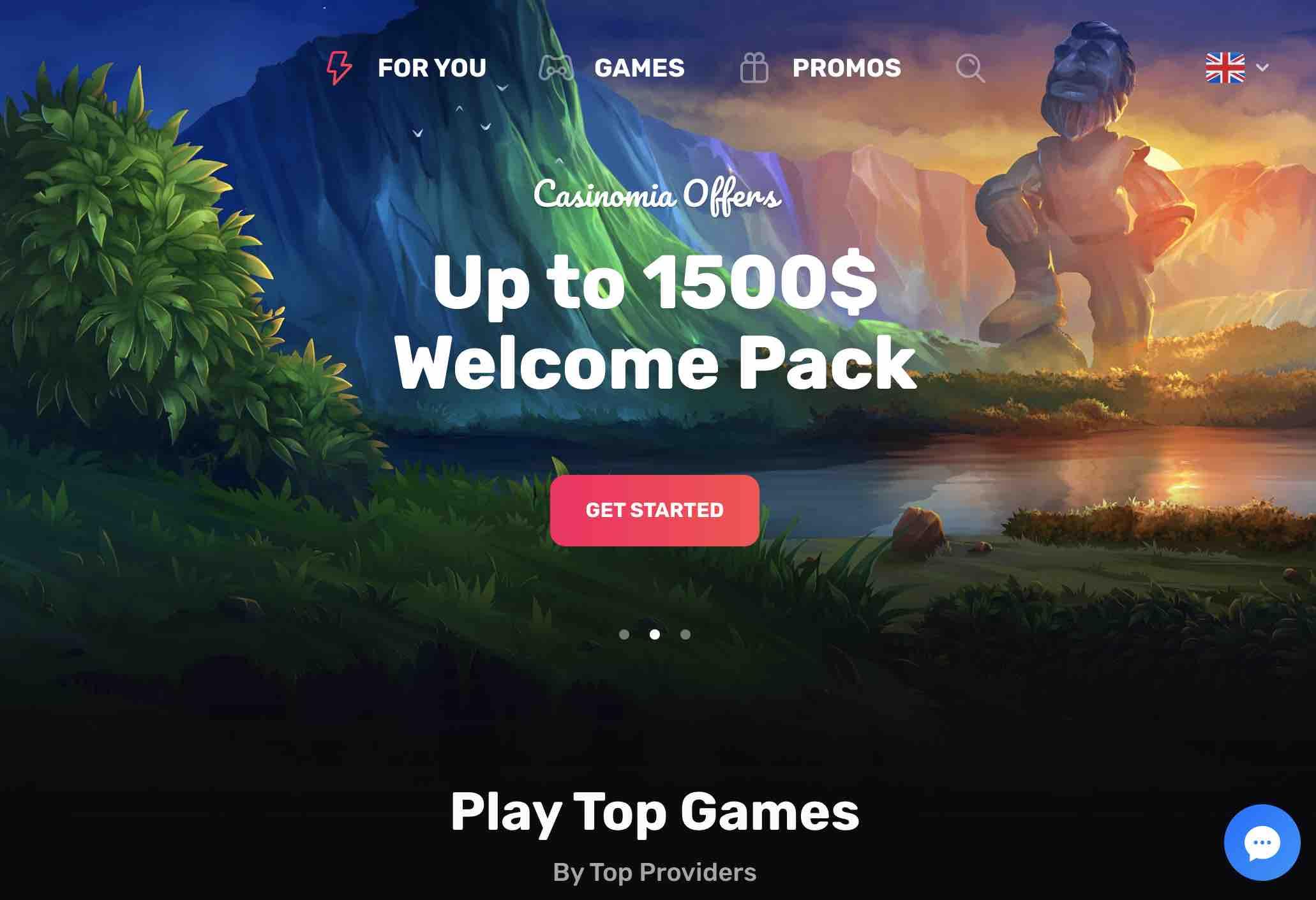Casinomia Welcome Bonus