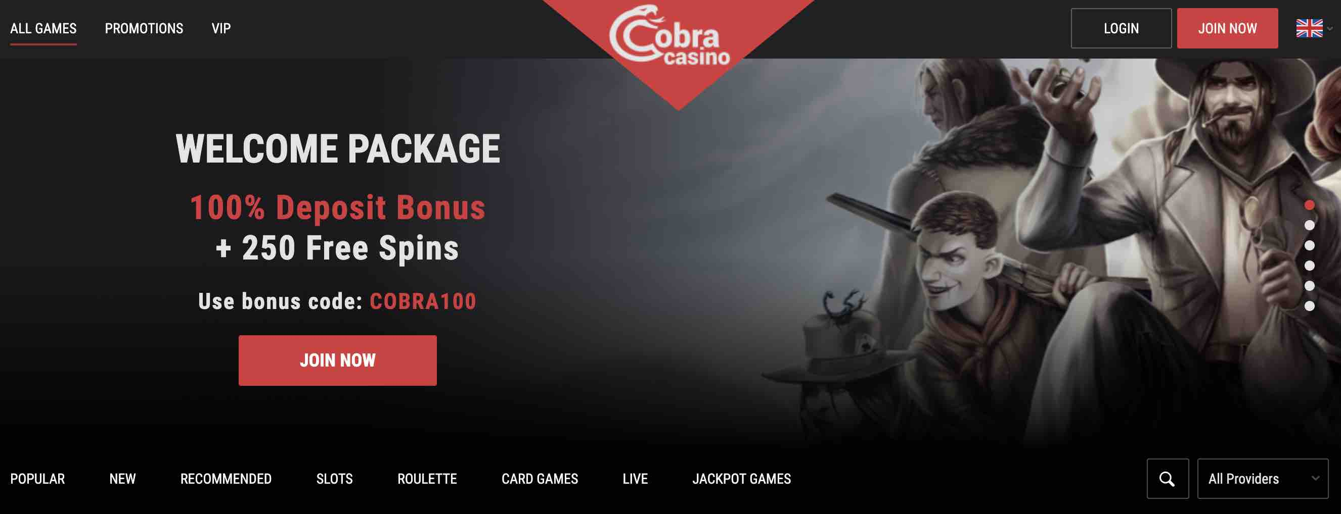 Cobra Casino Deposit Bonus