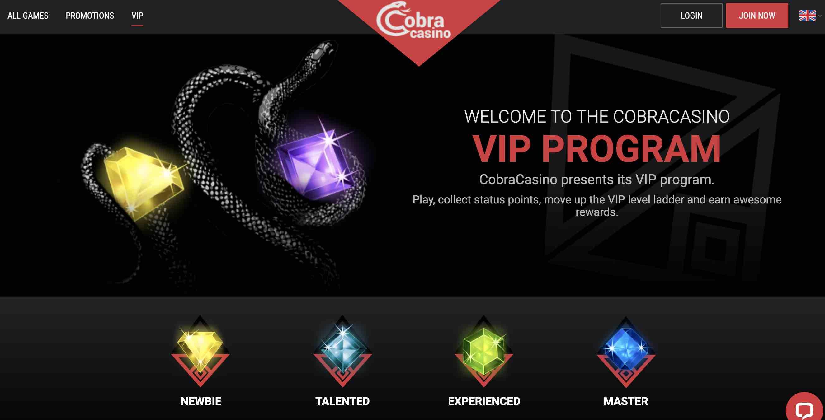Cobra Casino VIP Program