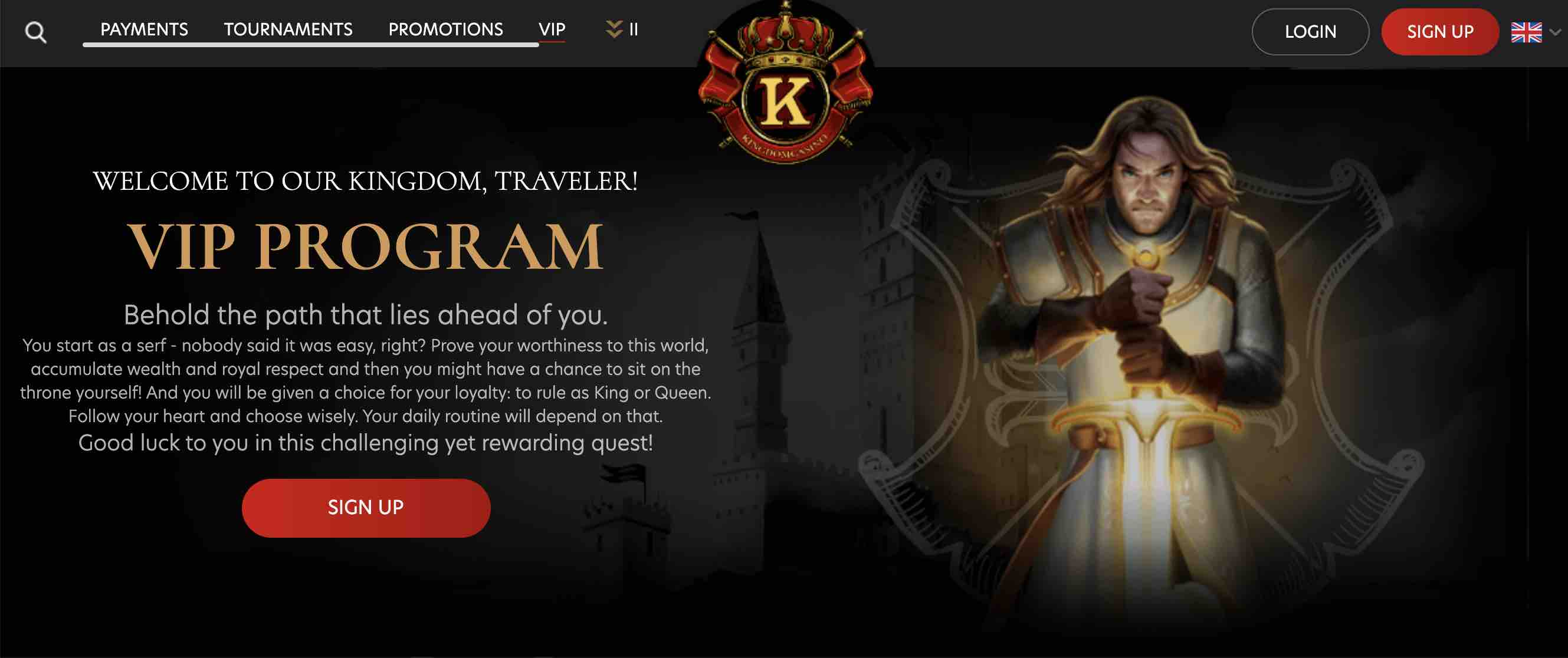 Kingdom Casino VIP Program