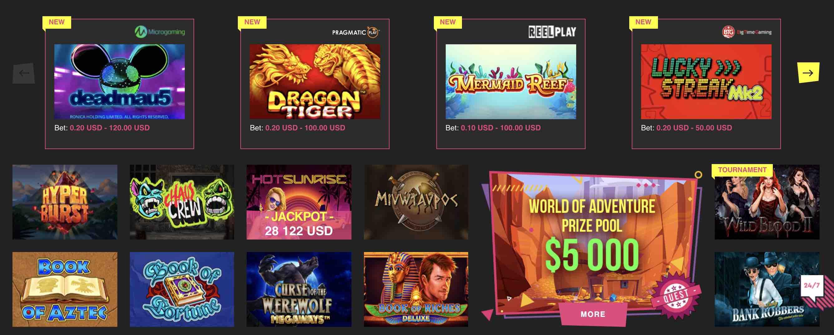 Play Booi Casino Games