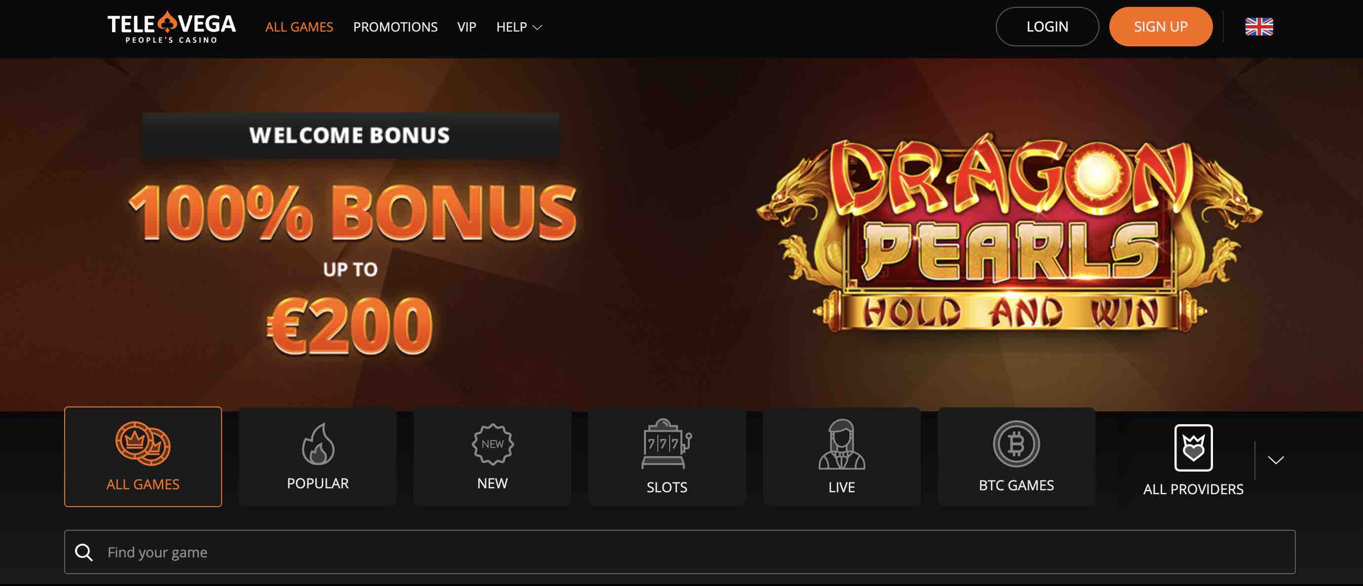 TeleVega Casino Review Join Now