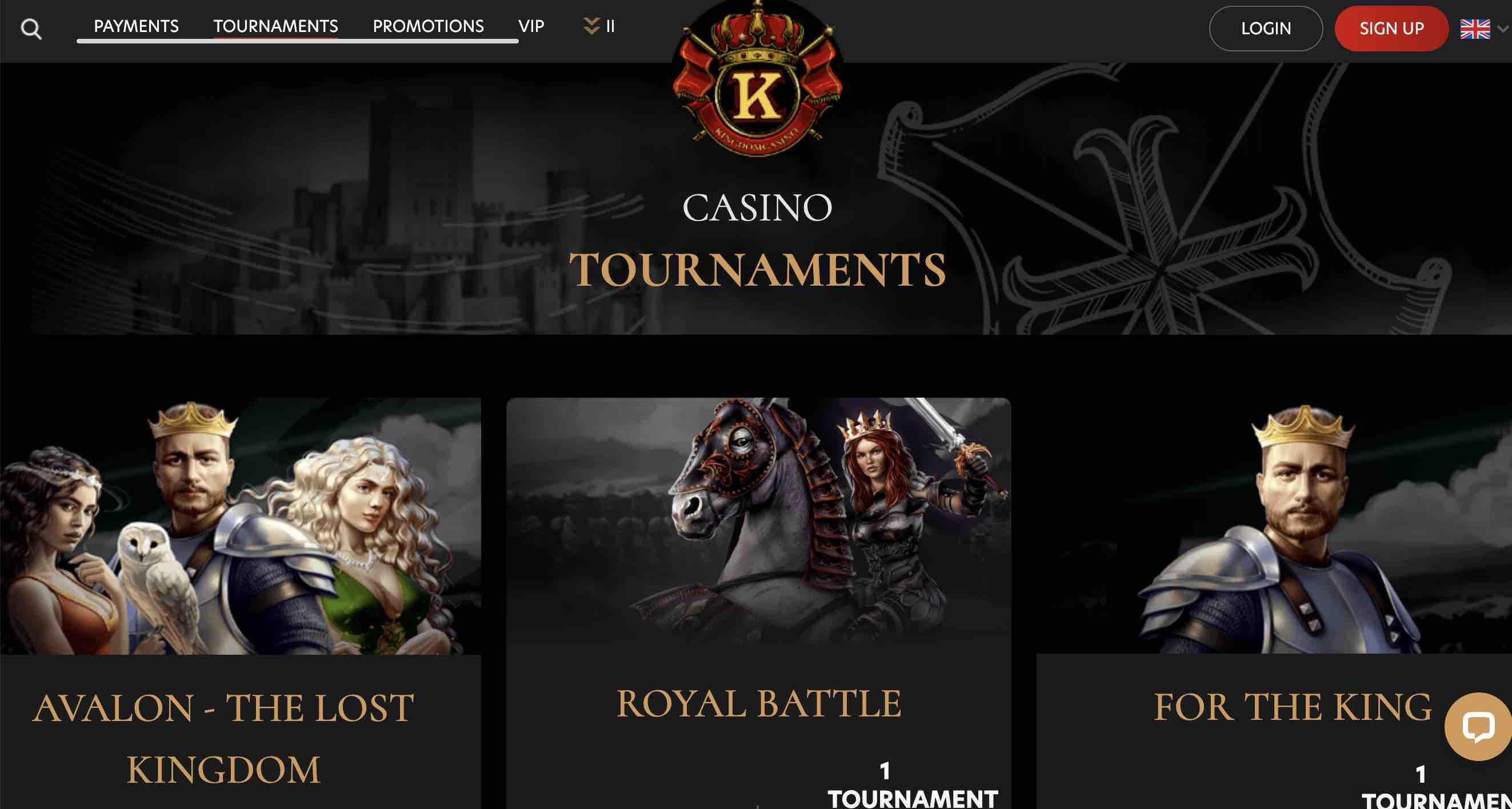 Tournaments at Kingdom Casino