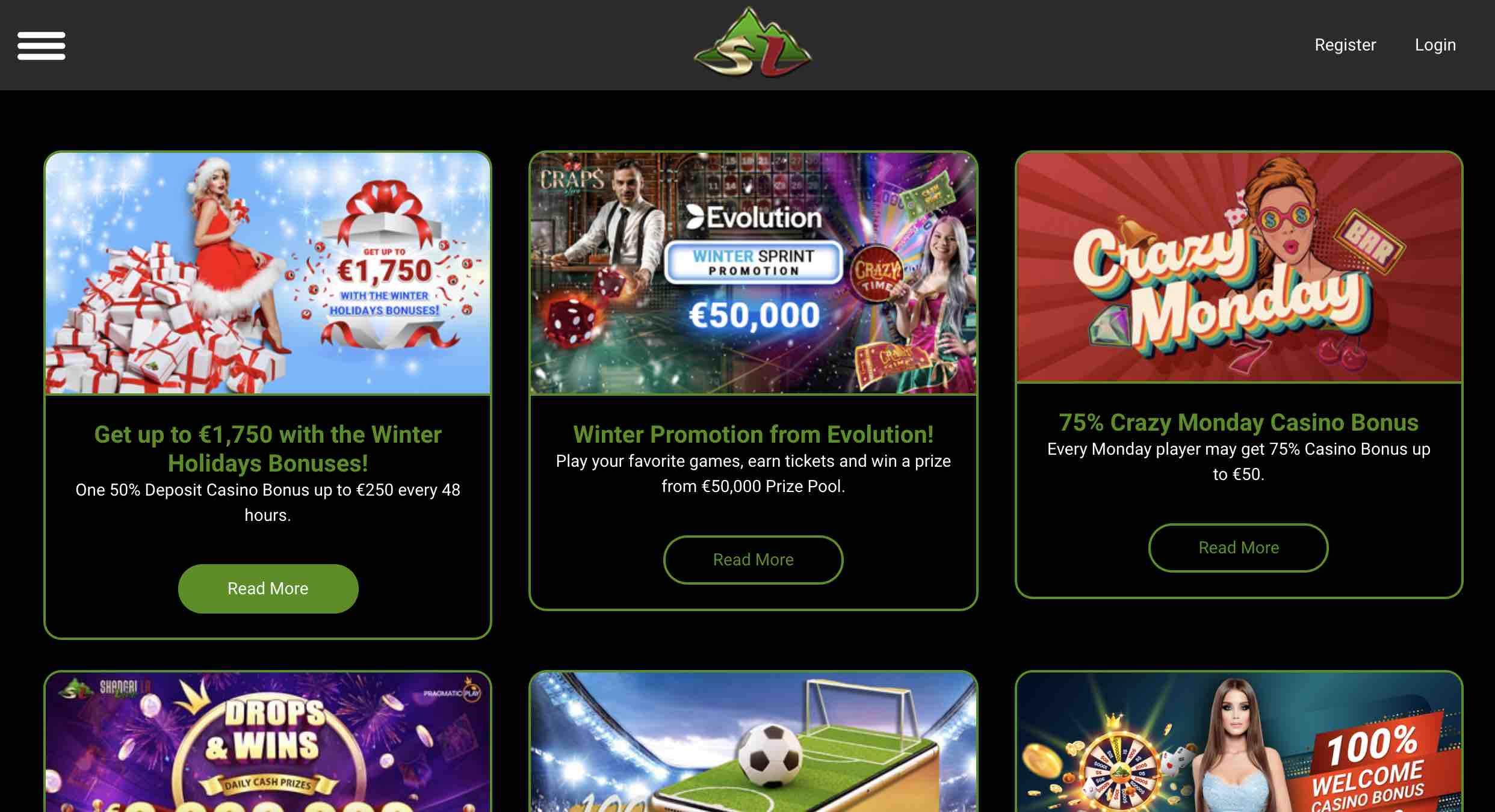 Bonuses at Shangri La Live Casino